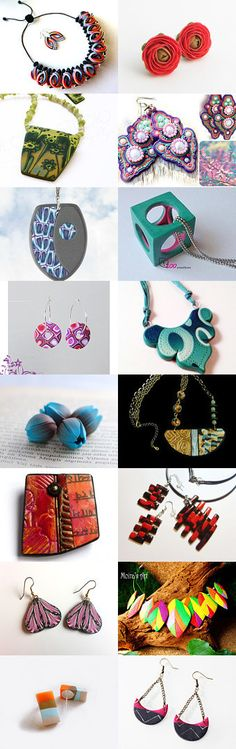 Polymer Clay Jewelry by AngelaDesign on Etsy--Pinned with TreasuryPin.com