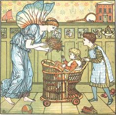 A Fairy Visits the Nursery   Children and Fairies Anytime Art Prints