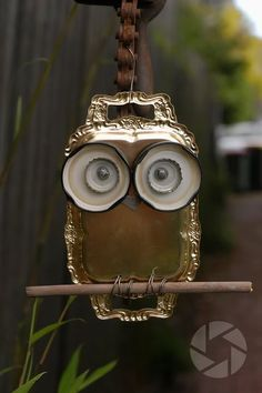 """OMGosh!!! Adorable silver tray owl!"""