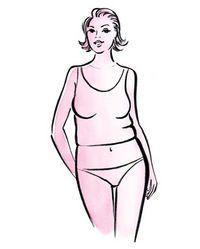 Dressing tips for an Apple body shape