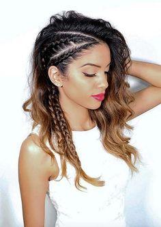 50 gorgeous braids hairstyles for long hair - hair :) - cheveux Medium Hair Styles, Curly Hair Styles, Natural Hair Styles, Braid Hair Styles, Bun Styles, Short Styles, Dress Styles, Beautiful Braids, Hair Dos