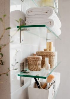 For the bathroom - with bubbled glass