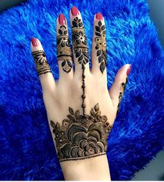 Henna Tattoo Designs Simple, Finger Henna Designs, Henna Art Designs, Mehndi Designs 2018, Unique Mehndi Designs, Mehndi Designs For Hands, Mehandi Designs, Khafif Mehndi Design, Mehndi Design Pictures
