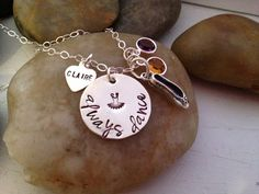 Always Dance hand stamped personalized necklace by thecharmedwife, $36.00