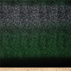 Silky Hatchi Knit Heathered Ombre Green/Black. McCalls Sweater
