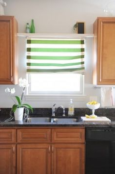 Blinds with shelping on top