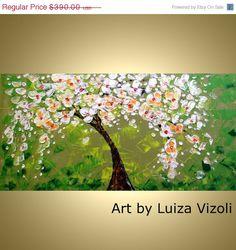 SALE 15 off Flowering Tree Spring Magnolia Original by LUIZAVIZOLI, $331.50