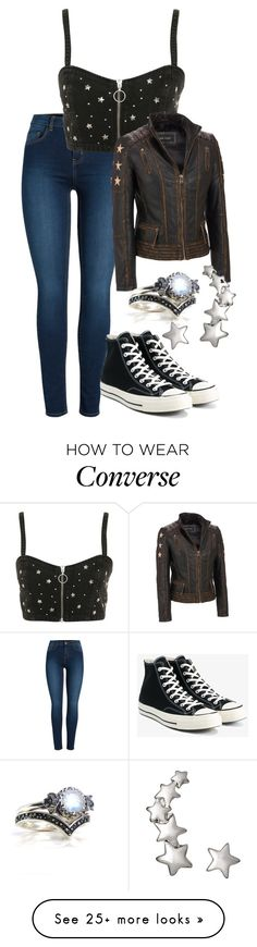 """Untitled #1616"" by twisted-magic on Polyvore featuring Pieces, Topshop, Converse and StarOutfits"