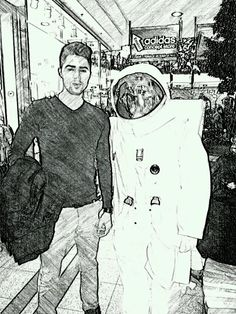 With an astronaut