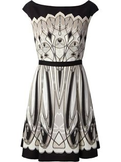 Blumarine Patterned Empire Line Dress