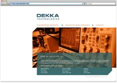 DEKKA TECHNOLOGIES | The rebranding of the research and development firm Dekka Technologies was inspired by the very technical and professional work they do.   Logo design, letterhead and business card layout and website design | Graphic Design | Cali Traina
