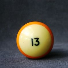 Lucky number 13. Vintage pool ball.. $14.95, via Etsy.
