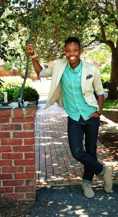Blazer: New York  CompanyShirt: HMJeans: Bullhead DenimShoes:Clarks Desert BootsPocket Square: DIYWatch: WeWood Watch Co. Submitted byImani:Poetry Tumblr|Misc Tumblr Submit to Qwear!