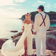 Bridal Dresses, Beach Wedding Dresses, Chiffon Wedding Dress,Sexy
