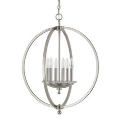 Shop for Capital Lighting Perry Collection 6-light Polished Nickel Pendant. Get free shipping at Overstock.com - Your Online Home Decor Outlet Store! Get 5% in rewards with Club O!