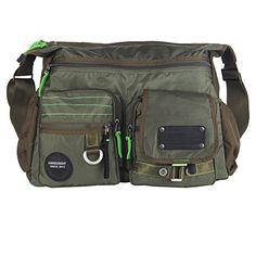 1a6a1732c6 Innturt Large Messenger Bag Shoulder Bag Pack Tote Travel Daypack Green 15     Want to