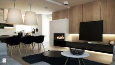 DOM JEDNORODZINNY / SZCZECIN - Duży salon z kuchnią z jadalnią, styl nowoczesny - zdjęcie od A2 STUDIO pracownia architektury