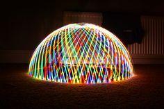 Digital Light Dome by - Hob Light Installation, Art Installations, Neon Artwork, Digital Light, Different Kinds Of Art, Fire Art, Neon Lighting, Light Art, Light Colors