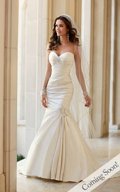 Wedding Dresses - Strapless Wedding Dress by Stella York - Style 5980