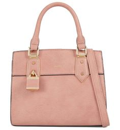 Olilidia by ALDO. This small structured tote is key for day-to-night wear, adorned with a co-ordinated lock detail. Gender: womens; Color: Pink; Category: Women > Handbags > Mini bags #aldo #bags