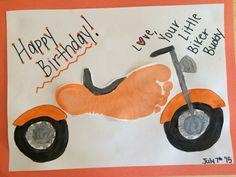 Motorcycle footprint gift