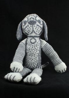 Strelka the Valiant - Knitting Patterns by Annie Watts Knitted Cat, Knitted Animals, Knitted Dolls, Knitting Projects, Knitting Patterns, Crochet Patterns, Crochet Projects, Dog Toys, Kids Toys