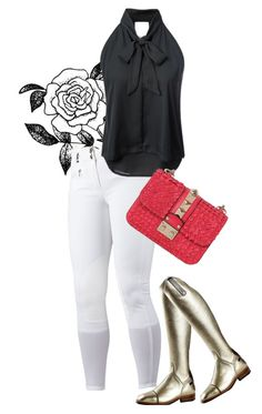 """""""A touch of metallic"""" by stylemyride on Polyvore featuring Forever 21, CO and Valentino"""