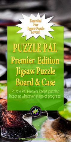 Puzzle Pal Premier Edition is an essential for Jigsaw Puzzle lovers! It's a jigsaw puzzle carrying, storage, board and case all in one! Perfect for the avid puzzler on the GO! Jigsaw Puzzle Table, Puzzle Mat, Puzzle Board, Difficult Jigsaw Puzzles, Best Jigsaw, Puzzle Crafts, Hobbies For Couples, Craft Storage, Storage Ideas