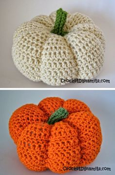 Crochet Amigurumi Patterns Crochet pumpkin free pattern - Stand out from the crowd this year with this collection of Halloween Decoration Crochet Patterns which can get your decorating off to a fabulous jumpstart! Crochet Pumpkin, Crochet Fall, Cute Crochet, Crochet Crafts, Beautiful Crochet, Crochet Projects, Crotchet, Crochet Ideas, Thanksgiving Crochet