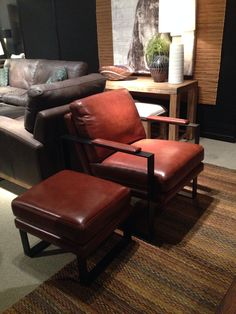 Flexsteel occasional chair with matching ottoman