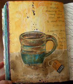 another cup of chai tea :) art journal #art