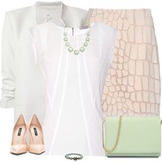 Pastels in the Office, created by jafashions on Polyvore