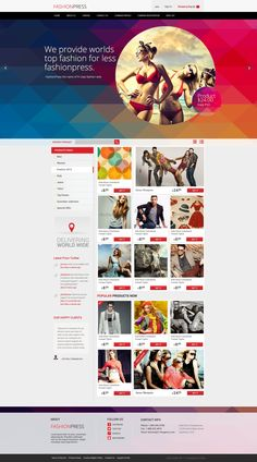 Fashionpress - Free PSD Template