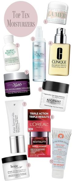 Top 10 Moisturizers. - Home - Beautiful Makeup Search: Beauty Blog, Makeup & Skin Care Reviews, Beauty Tips