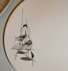 vintage water birds diner dish pattern (via the Haunted Lamp)