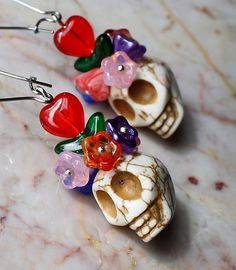 Sugar Skull - Day of the Dead Earrings