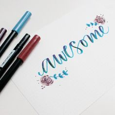 Handlettering for the Tombow blog by @asyeraguempel