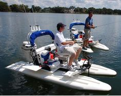 Find out all of the information about the CraigCat product: catamaran small boat / outboard / sport-fishing CATCH-IT. Contact a supplier or the parent company directly to get a quote or to find out a price or your closest point of sale. Fishing Pontoon, Sport Fishing, Gone Fishing, Small Fishing Boats, Small Boats, Kayaks, Boat Canopy, Pedal Boat, Fishing Boots