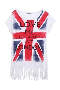 Tassel Hem Union Jack T-shirt