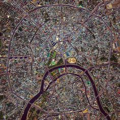 Moscow is the capital and largest city in Russia with 12.2 million residents. The city is organized into five concentric transportation rings that surround the Kremlin. The two innermost rings are seen here. 55°45′N 37°37′E Instagram:...