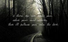 """I Will Follow You Into the Dark"""