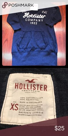 Hollister three quarter sleeve sweatshirt 🎀NWOT Front pocket and runs long♥️super soft... comfy w style... made from cotton and polyester Hollister Tops Sweatshirts & Hoodies