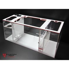 "This sump is built to order with a current lead time of 4 weeks. Materials are ""In Stock"" for this build x x Synergy Reef Sump Color Laminated Aquarium Sump, Reef Aquarium, Saltwater Aquarium, Fish Tanks, Reef Tanks, Tanked Aquariums, White Crosses, Animals And Pets, Red And White"