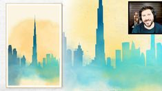 Inkscape Tutorial: How to Make Watercolor Skyline Cityscape Wall Art Inkscape Tutorials, Watercolor City, Vector Graphics, Skyline, Graphic Design, Wall Art, Art Supplies, Youtube, Etsy