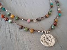 beaded crochet necklace - Google Search