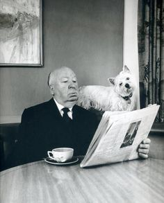 coffee break + Alfred Hitchcock.