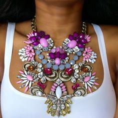 Jewelry by brand – Fine Sea Glass Jewelry Stylish Jewelry, Jewelry Accessories, Fashion Jewelry, Jewelry Trends, Chunky Jewelry, Statement Jewelry, Beautiful Necklaces, Jewlery, Bra Jewelry