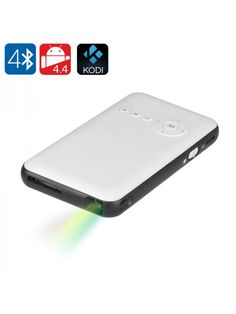 Android Mini DLP projector is a smart TV in your pocket. Bluetooth and Wi-Fi bring wireless connectivity for streaming content, surfing Portable Projector Screen, Pico Projector, Quad, Wi Fi, Bluetooth, Android 4.4, Moto Suzuki, Carte Micro Sd, Smartphone