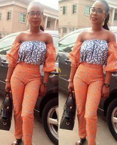 classy-ankara-styles-nigerian-wedding-mismatch-2-piece-bardot-off-shoulder-trouser-and-top