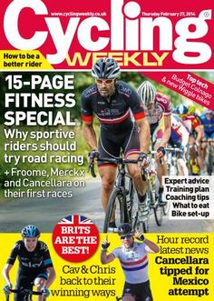 Get your digital subscription/issue of CYCLING WEEKLY-February 27 2014 Magazine on Magzter and enjoy reading the Magazine on iPad, iPhone, Android devices and the web. Cycling Weekly, Hiit Program, Cycling News, Fit Team, Best Cardio, High Intensity Workout, Resistance Band Exercises, Weight Loss Snacks, Training Plan
